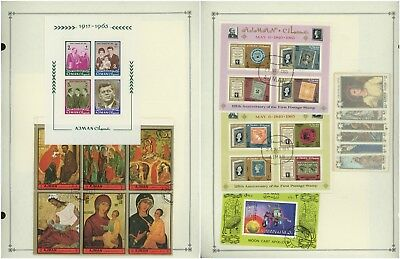 AJMAN - Scott International Album Page Lot #38 - SEE SCAN - $$$