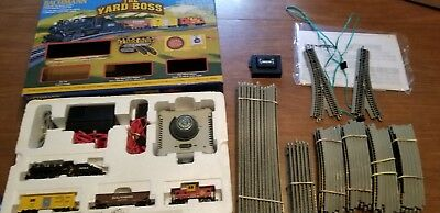 Bachmann The Yard Boss Scale Ready to Run Train Set with Lots of Tracks used
