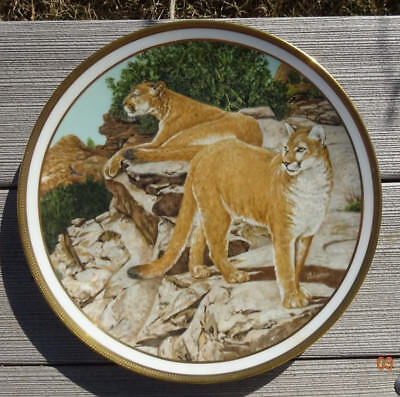 Mountain Lion By Norman Adams - 1982 Lenox American Wildlife Plate Collection