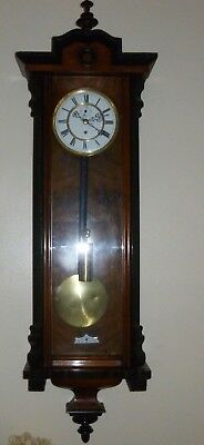 A  Fine Slim Single Weight Vienna Wall Clock