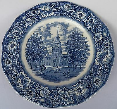 Liberty Blue Staffordshire Independence Hall Dinner Plate(S)