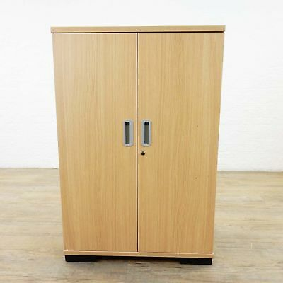 Two Door Light Oak Storage Cabinet Wood cupboard desk shelfs shelving desk