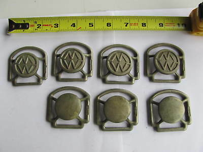 Antique Nickel Horse Harness Bridle Tack Hardware Buckle Lot 3
