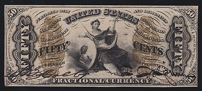 US 50c Fractional Currency 3rd Issue FR 1355 Ch CU -004