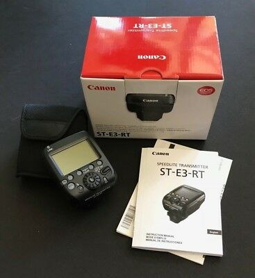 Canon Speedlite Transmitter w/ Soft Case ST-E3-RT - NEW w/ box, manual