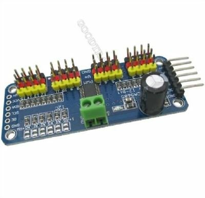 2Pcs 16-Channel 12-Bit I2C P Driver Servo Driver PCA9685 For Arduino US Stock x