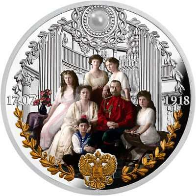 IN MEMORY OF THE ROMANOV FAMILY - 2018 1 oz Pure Silver Coin - Cameroon Poland