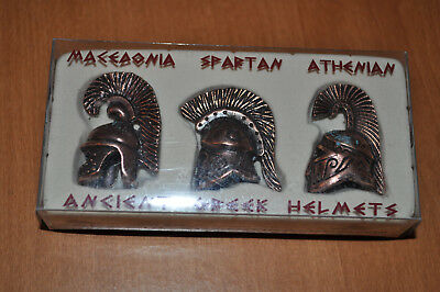 Ancient Greek Helmets (Macedonia, Spartan, and Athenian)