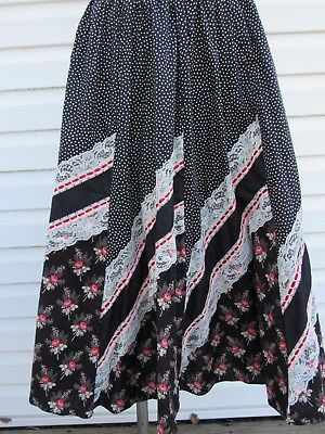 Square Up SZ P Square Dance Skirt Western Dance Wear NWOT Polka Dots & Lace