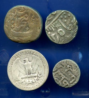 Nice Lot of Three Old INDIA Coins! No Reserve!