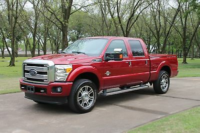 Ford F-250 Crew Cab 4WD Platinum Crew Cab 4WD Platinum Diesel One Owner Perfect Carfax Loaded Platinum Michelin Tires  MSRP New $65630