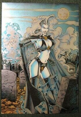 P259. LADY DEATH CHROMIUM POSTER by Brian Pulido Krome Productions (1994)