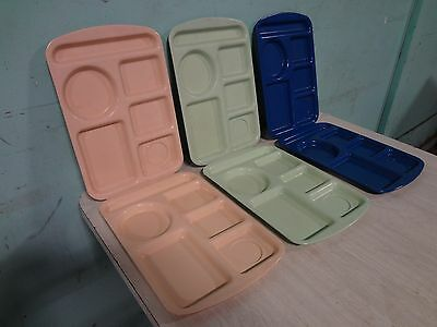 "Lot Of 6 "" Prolonware "" Heavy Duty Commercial Melamine 5 Compartment Food Trays"