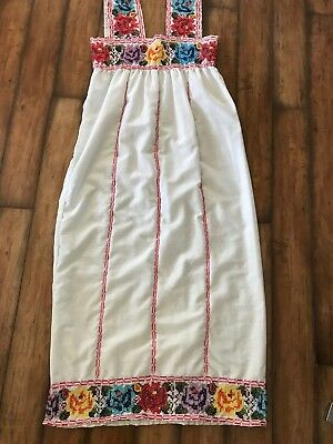 Vintage Handmade Dress With Lots Of Embroidery •hand-Sewn •colorful •medium
