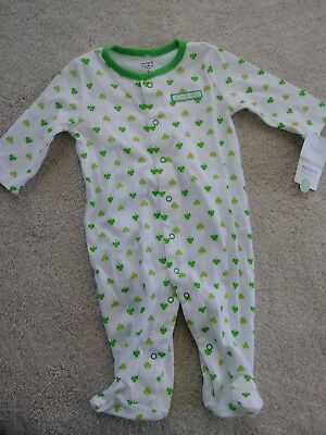 Carter's baby suit size 3 months. My first St. Patty's day.