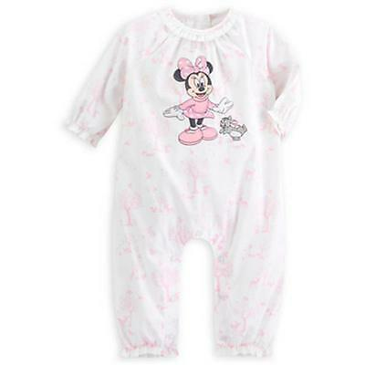 Minnie Mouse Long Sleeve Woven Romper for Baby Girl, Disney, Size 12-18 Months