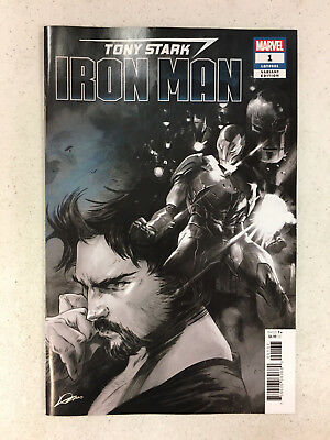 TONY STARK IRON MAN #1 - Party Sketch Premiere Variant Cover - Marvel 2018 - NM!