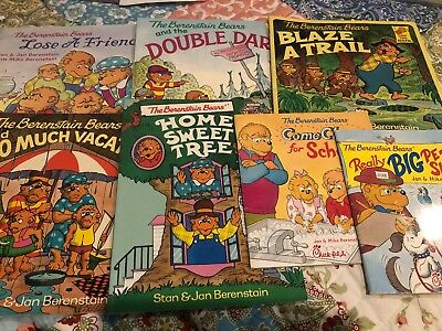 Lot 7 The Berenstain Bears Children's Picture Books ages 4-8