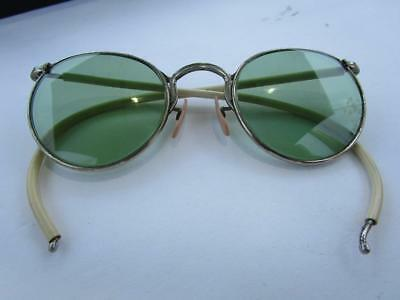 Vintage AO American Optics Green Lens Wire Frame Safety Glasses Ful Vu AO 23