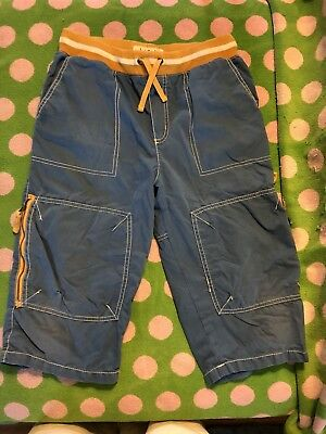 PLAY Mini Boden 13 Techno Shorts Technos Old Style Blue Cargo 13y Turquoise