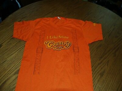 Vtg~1980's~Country Style~Lance Snack Crackers Tom's~T-Shirt~Sz L~Thin Soft