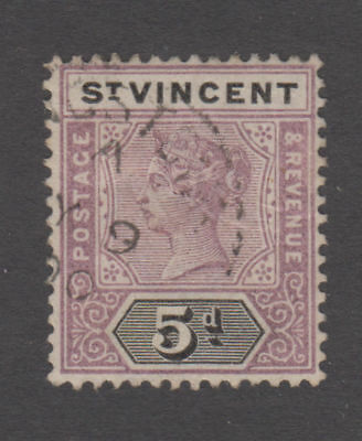 St. Vincent - 1898 5 Penny Victoria. Sc. #67, SG #72. Used