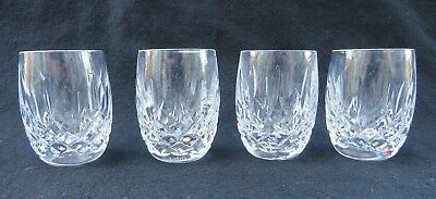 """Waterford Crystal Set Of 4 Lismore Shot Glass Star Cut Bottom 2 1/4"""" Excellent"""