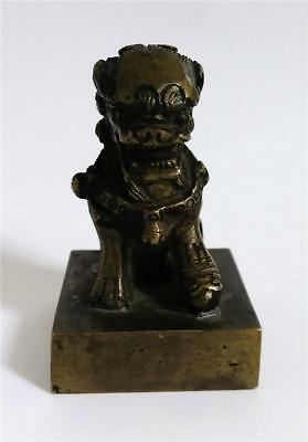 Antique Chinese Bronze Wax Seal Foo Lion