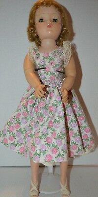 Vintage 1950s Madame Alexander CISSY Doll in RARE HTF Tagged CLOVER Dress EUC