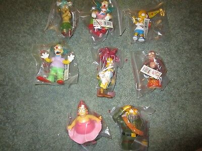 Simpsons Set Of Krustylu Figures (8) By Promotions From Australia 2005