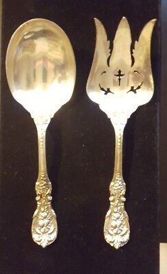 """Francis I by Reed & Barton Old Sterling Silver Salad Serving Set 2pc 9 1/4"""" 311g"""