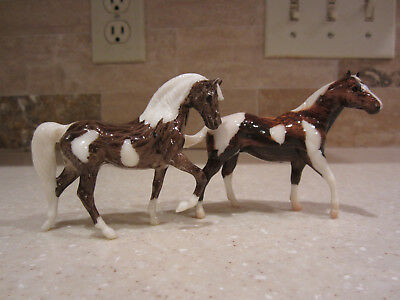 CM Morgan & Quarter Horse Stallion Woodgrain Glossy Decorator Pinto Custom