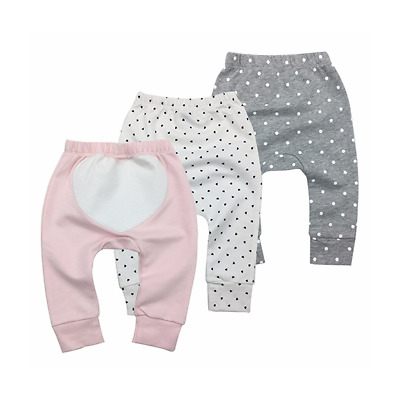 100% Cotton Baby Pants Unisex Girl Outfits Printer Design Size 6M-2Y Cozy Soft 3
