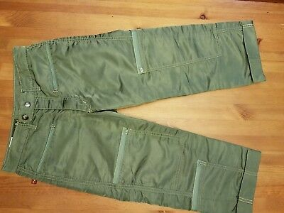 Panno D'or Nylon Parachute Break Dance / UniSex Pants Olive Green Size 27