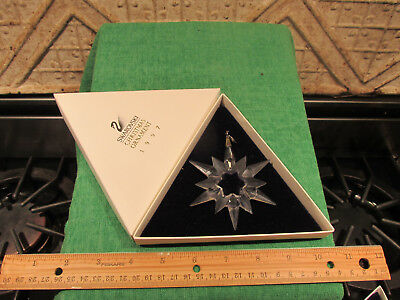 Swarovski Crystal Glass Christmas Ornament 1997 Snowflake In Box Very Nice