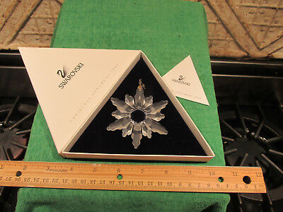 Swarovski Crystal Glass Christmas Ornament 1998 Snowflake In Box Very Nice