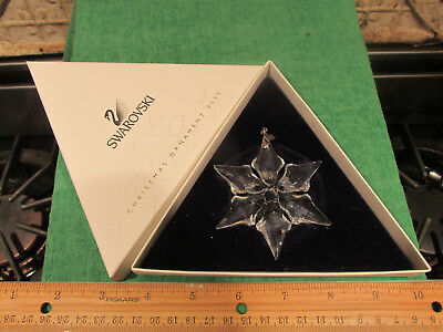 Swarovski Crystal Glass Christmas Ornament 2000 Snowflake In Box Very Nice