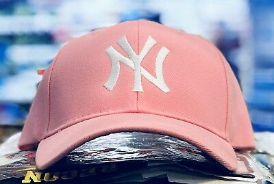 New York Yankees Ladies Cap Hat Classic Mlb Patch logo Ny Cool Pink New Hot c95a023d851