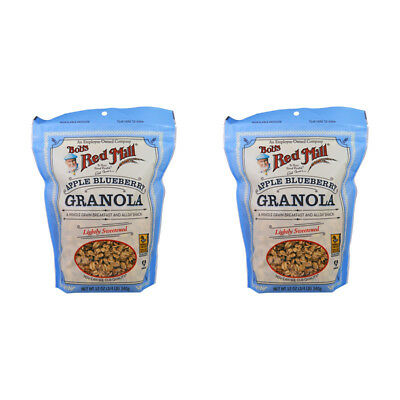 2X Bob's Red Mill Granola Apple Blueberry Whole Grain No Fat Cereal Breakfast