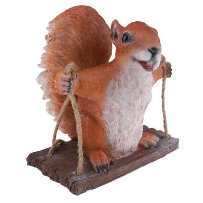 Garden Brown Squirrel Statue Resin Outdoor Decor Patio Lawn Yard Ornament