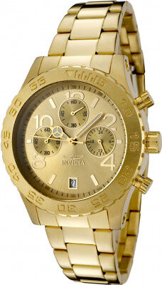Invicta Women's Specialty Chronograph 50m Gold Tone Stainless Steel Watch 1279