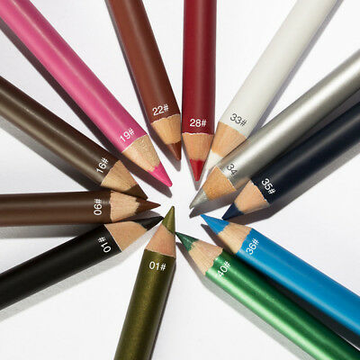 12 Color Professional Eye Lip Liner Eyeliner Pen Pencil Makeup Cosmetic Set