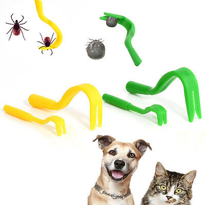 4X Tick Bug Remover Hook Removal Tool Dog/Pet/Horse/Cat/Puppy Useful Tools HOT