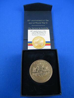 2005 60th Anniversary of the End of WW II - Service to Australia Medal - SUPERB