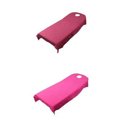 Rose Red +Dark Red Toweling Couch Cover Massage SPA Bed Table Couches Sheets