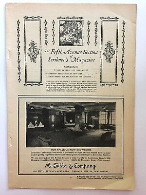 1922 Scribner's Magazine ~ The Fifth Avenue Edition ~ NYC NY~  8 Pgs of Ads