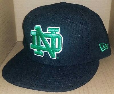 51f9e10073c NWT New Era Notre Dame FIGHTING IRISH black 59FIFTY fitted 7 1 8 ncaa cap