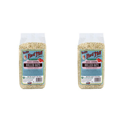 2X Bob's Red Mill Organic Quick Cooking Rolled Oats Whole Grain Breakfast Foods