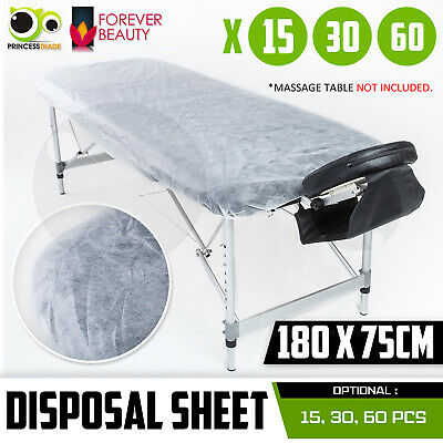 Disposable Massage Table Bed Cover Sheet Elastic Band Hygiene 180cm x 75cm