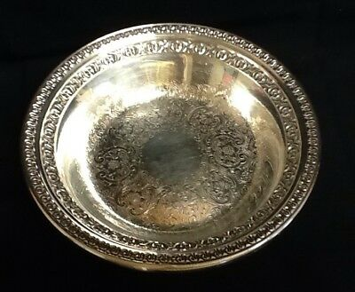 "Vintage Reed & Barton Silver Plate 1333 Footed Candy Dish Compote, 3 3/4"" T X 6"""